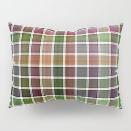 Pink Roses in Anzures 5  Plaid 2 Pillow Sham