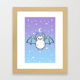 Cute Night Bat Framed Art Print