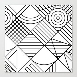 Whackadoodle White and black Canvas Print