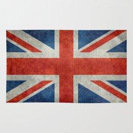 "UK British Union Jack flag ""Bright"" retro Rug"