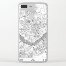 Seoul Map Line Clear iPhone Case