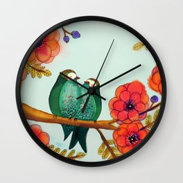 feather bellies Wall Clock