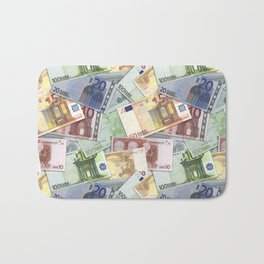 Art of the euro money Bath Mat
