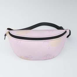 In pink Fanny Pack