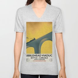 Ribblehead Viaduct Yorkshire Unisex V-Neck