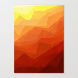 Stratum 3 Orange Canvas Print
