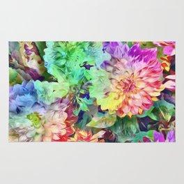 Chrysanthemums Rug