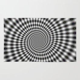 Spiral optical illusion Rug