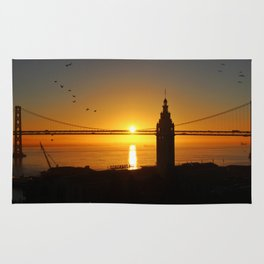 Sunrise at the Ferry Building Rug
