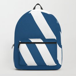Blue V Abstract Retro Design Backpack