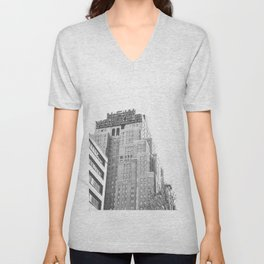 New Yorker Sign - NYC Black and White Unisex V-Neck