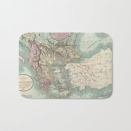 Vintage Map of The Balkans and Turkey (1801) Bath Mat