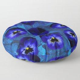 Deep Blue Velvet Floor Pillow