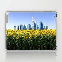Frankfurt Germany Skyline Sunflower Field Laptop & iPad Skin
