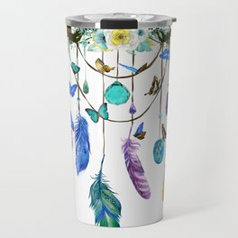Folkestone Feather, Crystal And Butterfly Spirit Gazer Travel Mug
