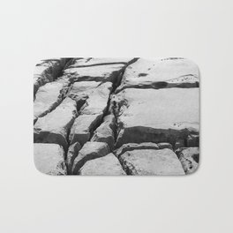 Limestone pavement in the Burren, Ireland Bath Mat