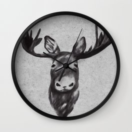 Beautiful Moose Head Design Wall Clock
