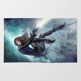 Espionage 101 - Futuristic sci-fi girl spy Rug