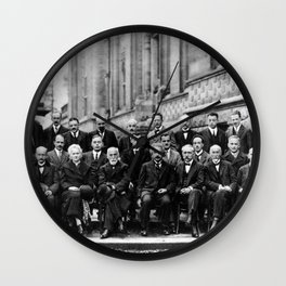 World-Renowned Physicists of 1927 at Solvay Conference Wall Clock