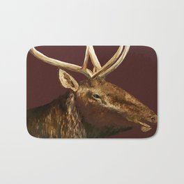 Big Bull Elk Profile Bath Mat