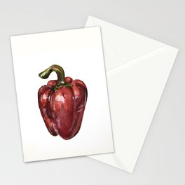 Red Bell Pepper Stationery Cards