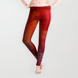 Music, violin with violin bow Leggings