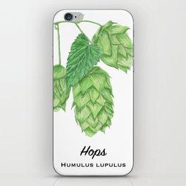 Beer Hops Botanical Painting iPhone Skin