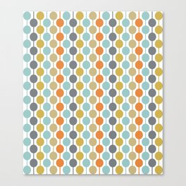 Retro Circles Mid Century Modern Background Canvas Print