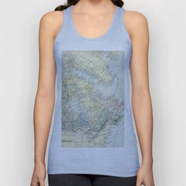 Vintage Map of The East Of Canada Unisex Tank Top