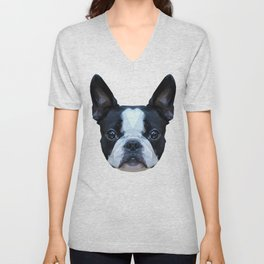 Frenchie / Boston Terrier // Peach / Apricot Unisex V-Neck