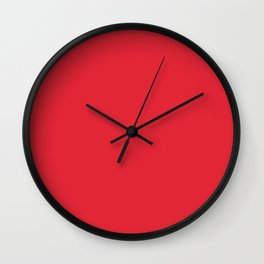 Rose madder - solid color Wall Clock