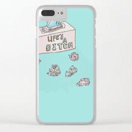 Lifes A Bitch Clear iPhone Case
