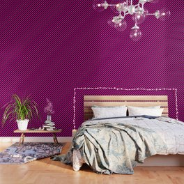 Bright Hot Neon Pink and Black Candy Cane Stripes Wallpaper