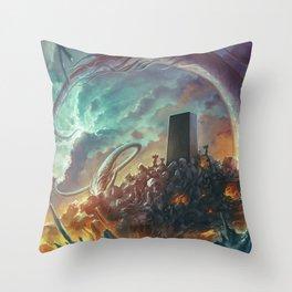 Lovecraft Monolith - By Lunart Throw Pillow