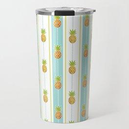 Vintage Glitter Pineapples Travel Mug