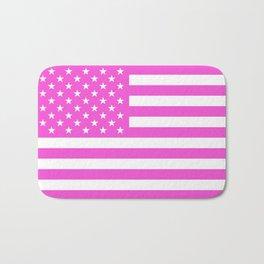 U.S. Flag: Pink Bath Mat