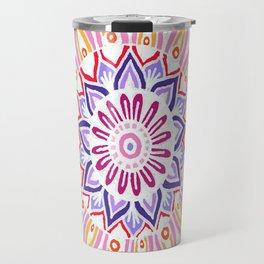 White on Cardboard Colored Travel Mug