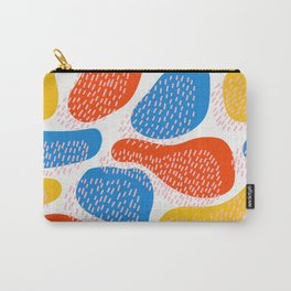 Abstract Orange, Blue & Yellow Memphis Pattern Carry-All Pouch