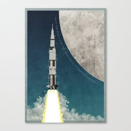 Apollo Rocket Canvas Print