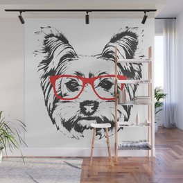 Portrait of Yorkshire Terrier Dog. Wall Mural