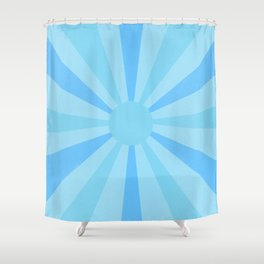 blue sunshine Shower Curtain