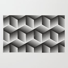 Black And White cuber Rug