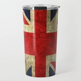 GRUNGY BRITISH UNION JACK  DESIGN ART Travel Mug