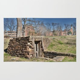 Cherokee Nation - Hendricks Spring, the Site Selected for Seminary Hall, after the first burned, #2 Rug