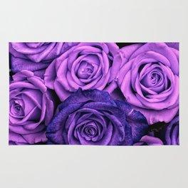 Purple Roses Rug