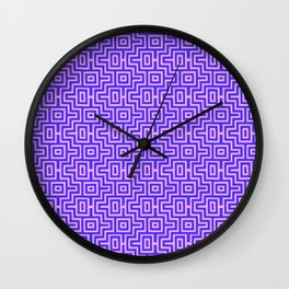 Plum Puzzle - Choctaw Pattern Wall Clock