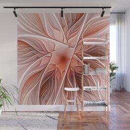 Flower Decoration, Abstract Fractal Art Wall Mural