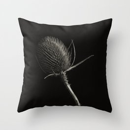 Project 'Decay'. Spear Thistle (Cirsium vulgare) Throw Pillow