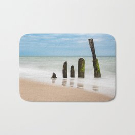 Groynes on the Baltic Sea coast Bath Mat