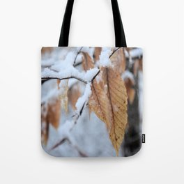 Snowy Close Up Tote Bag